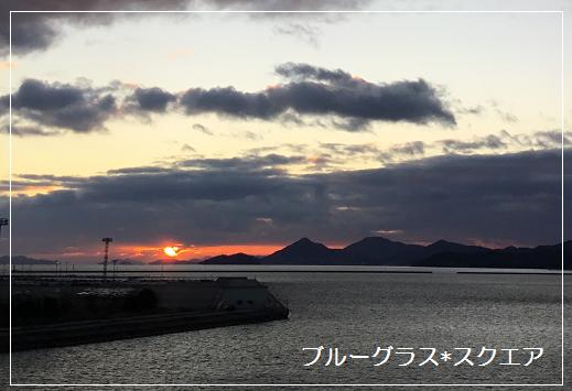 2019年の夕日